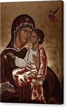 Madonna And Child Canvas Print by Olimpia - Hinamatsuri Barbu