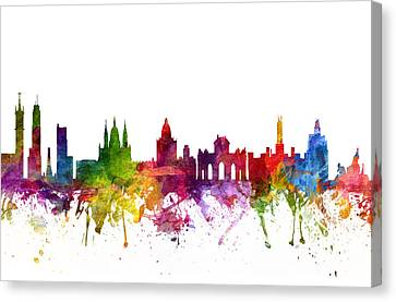 Madrid Spain Cityscape 06 Canvas Print by Aged Pixel