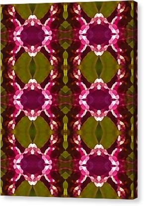 Magenta Crystal Pattern Canvas Print by Amy Vangsgard