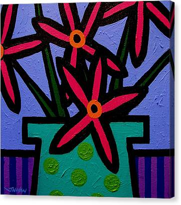 Magenta Flowers Canvas Print by John  Nolan