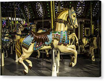 Magic Carrousel Horse Ride Canvas Print by Garry Gay