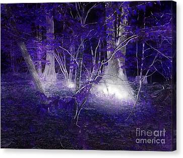 Magic Lives Within The Forest Canvas Print by Roxy Riou