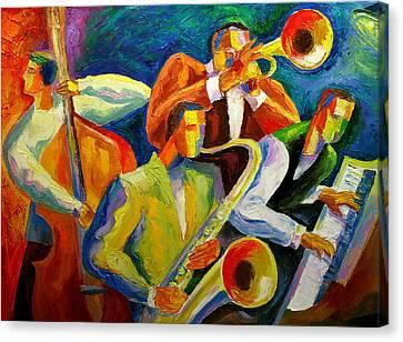 Magic Music Canvas Print by Leon Zernitsky