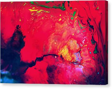 Magic Touch - Abstract Colorful Mixed Media Painting Canvas Print by Modern Art Prints