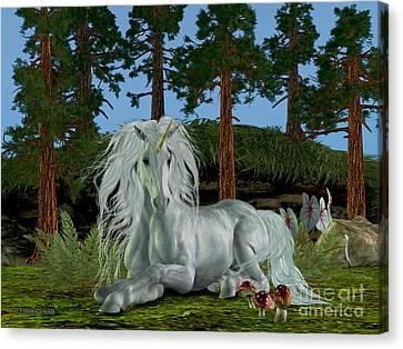 Magic Woodland Canvas Print by Corey Ford