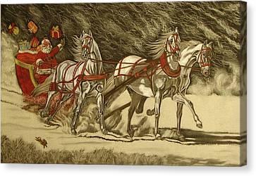 Magical Christmas Canvas Print by Melita Safran