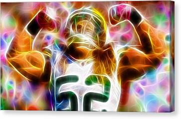 Magical Clay Matthews Canvas Print by Paul Van Scott