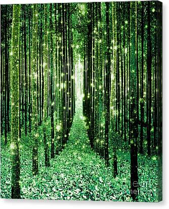 Magical Forest Green Canvas Print by Johari Smith
