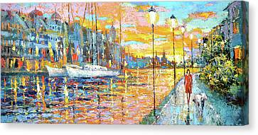Magical Sunset Canvas Print by Dmitry Spiros