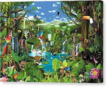 Magnificent Rainforest Canvas Print by Gerald Newton