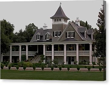 Magnolia Plantation Home Canvas Print by DigiArt Diaries by Vicky B Fuller