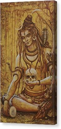Mahadev. Shiva Canvas Print by Vrindavan Das