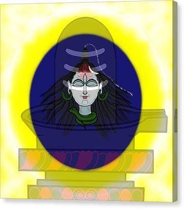 Mahadeva Canvas Print by Pratyasha Nithin