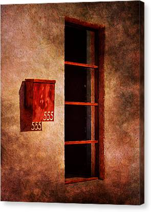 Mailbox - Window - 555 Canvas Print by Nikolyn McDonald