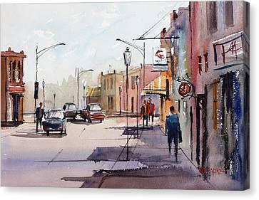 Main Street - Wautoma Canvas Print by Ryan Radke