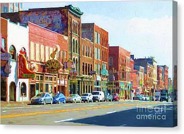 Main Street Nashville, Tennessee Canvas Print by Garland Johnson