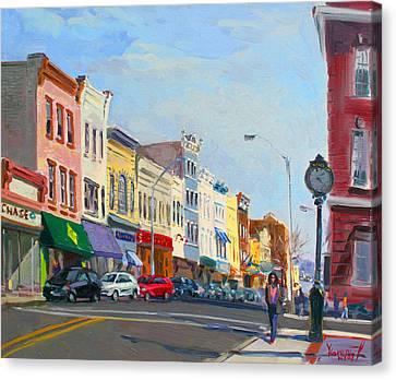 Main Street Nayck  Ny  Canvas Print by Ylli Haruni
