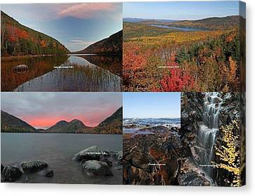 Maine Acadia National Park Landscape Photography Canvas Print by Juergen Roth