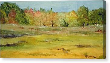 Maine Marsh Canvas Print by Jean Blackmer