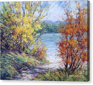 Maine October Canvas Print by Vickie Fears