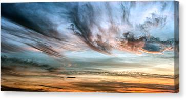 Maine Skyscape After Sunset Canvas Print by Bob Orsillo