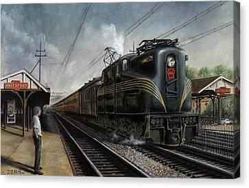 Mainline Memories Canvas Print by David Mittner