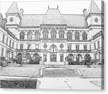 Maison Internationale Paris Canvas Print by Subesh Gupta