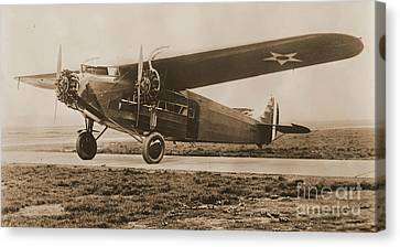 Maitlands Fokker Tri Motor Airplane Canvas Print by Padre Art