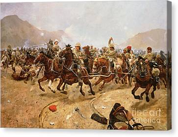 Maiwand Canvas Print by Richard Caton II Woodville