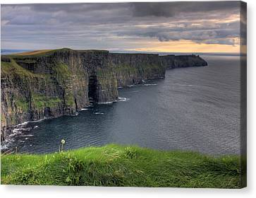 Majestic Cliffs Of Moher Co. Clare Ireland Canvas Print by Pierre Leclerc Photography