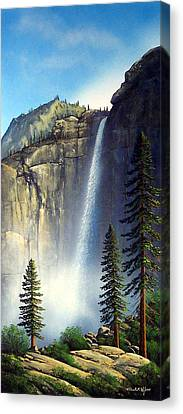 Majestic Falls Canvas Print by Frank Wilson