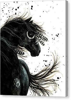 Majestic Friesian Canvas Print by AmyLyn Bihrle