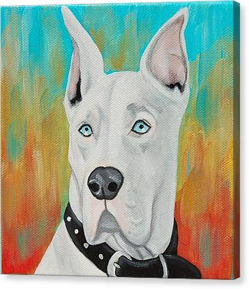 Majestic Great Dane Canvas Print by Lauren Hammack