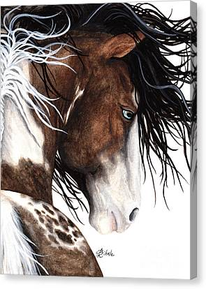Majestic Pinto Horse 140 Canvas Print by AmyLyn Bihrle