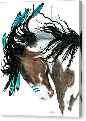 Majestic Turquoise Canvas Print by AmyLyn Bihrle