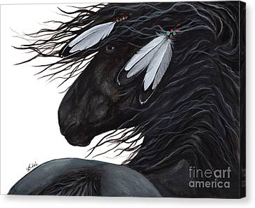 Majestic White Feathers 145 Canvas Print by AmyLyn Bihrle