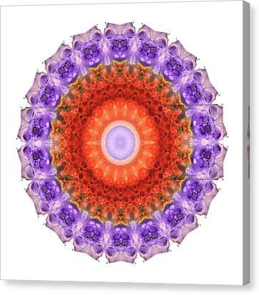 Majesty Mandala Art By Sharon Cummings Canvas Print by Sharon Cummings