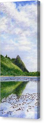 Makana Reflection Canvas Print by Kenneth Grzesik