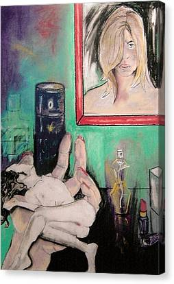 Make Me Up A Man Canvas Print by Joanne Claxton