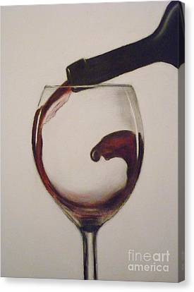 Make Mine A Red Wine Canvas Print by Paul Horton