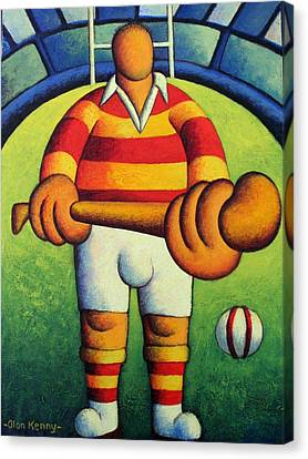 Make My Day- The Hurler Canvas Print by Alan Kenny