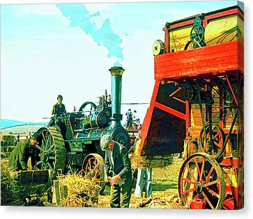 Making Hay Canvas Print by Dominic Piperata