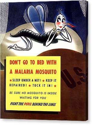 Malaria Mosquito Canvas Print by War Is Hell Store