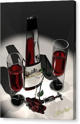 Malbec Wine - Romance Expectations Canvas Print by Stuart Stone