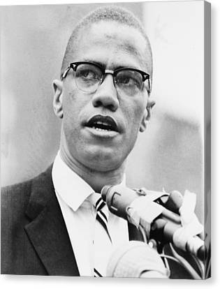 Malcolm X 1925-1965, Forceful African Canvas Print by Everett