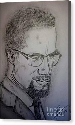 Malcolm X Canvas Print by Collin A Clarke
