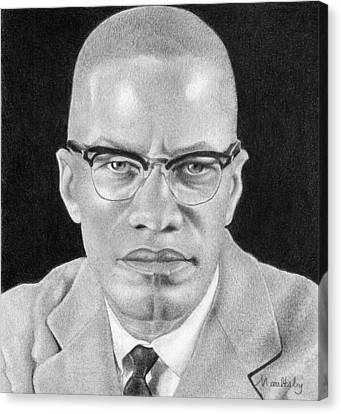 Malcolm X Canvas Print by Curtis Maultsby
