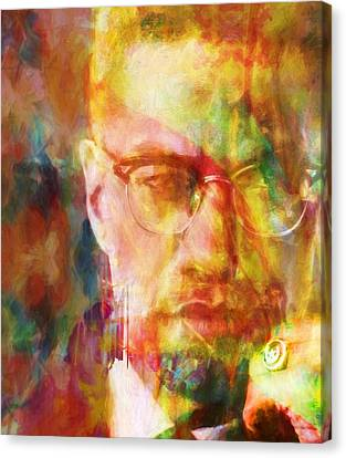 Malcolm X Canvas Print by Dan Sproul