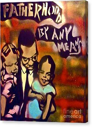 Malcolm X Fatherhood 2 Canvas Print by Tony B Conscious
