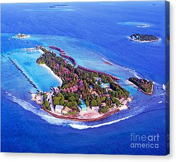 Maldives Indian Ocean Atol Canvas Print by Chris Smith
